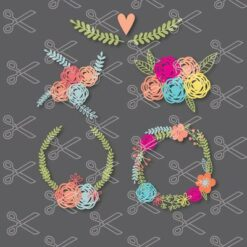 Floral Wreath SVG and DXF Cut Files