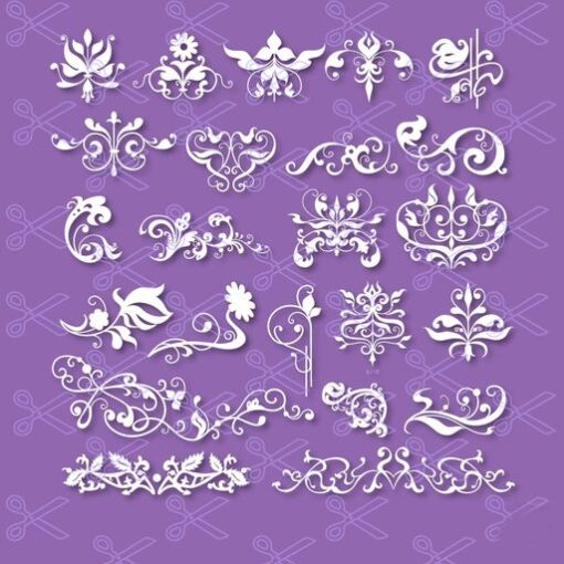Flourish SVG and DXF Cut File.dxf