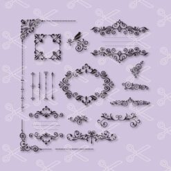 Frames SVG and DXF Cut Files