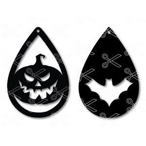 Halloween Tear Drop Earrings SVG and DXF