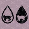 Tear Drop Earrings SVG and DXF Cut File