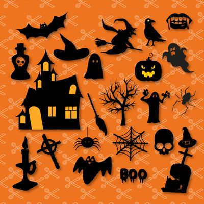 Halloween Bundle SVG and DXF Cut Files