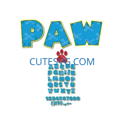 paw patrol svg cut file