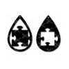 Autism puzzle piece tear drop earrings svg dxf cut file