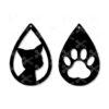 Cat paw tear drop earrings animal love citty svg dxf cut files