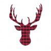 Christmas Deer Plaid Reindeer SVG and DXF Cut Files