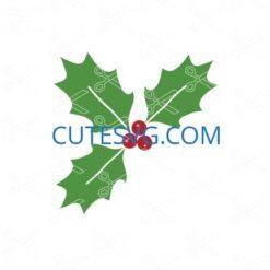 Christmas Holly SVG file