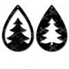 Christmas tree tear drop earrings templates svg and dxf cut files