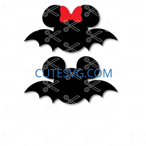 Download Disney Mickey Mouse Bat SVG and DXF Cut Files