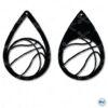basketball teardrop earring svg