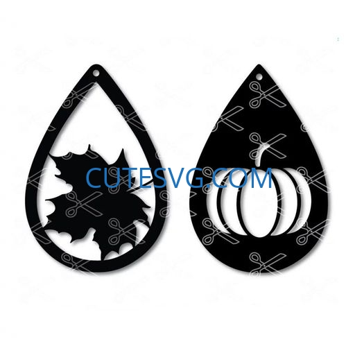 Fall tear drop earrings