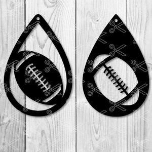 Football ball sport Tear Drop Earrings SVG