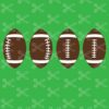 football earring bundle svg and dxf cut files