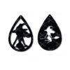 halloween witch tear drop earrings svg cut file
