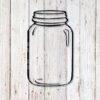 Mason Jar, Jam Jar, Smoothie Jar Svg snd Dxf Cut File