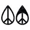 Peace Tear Drop Earrings SVG and DXF Cut files