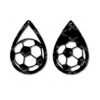 Soccer fan tear drop earring SVG and DXF cutting files