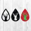 Christmas Deer Head tear drop files SVG and DXF cut files