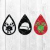 Christmas Santa Hat Tear drop Earrings SVG And DXF Cut Files