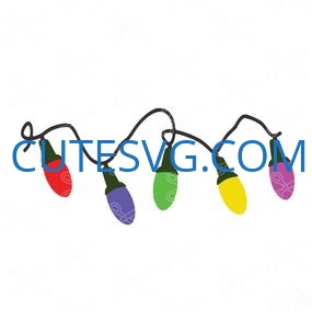 Christmas lights svg and dxf cut files