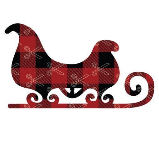 Christmas sleigh Santa sledges SVg and DXF Cut files 1