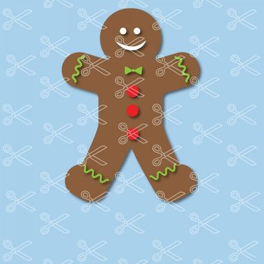 Download Gingerbread Man Christmas SVG and DXF Cut File and use it to your DIY project!