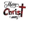 Merry Christmas Buffalo plaid SVG and DXF Cut files