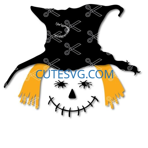 Download Scarecrow Face SVG and DXF cut files and use it to your DIY project!