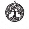 Tree of life dangle drop round earrings