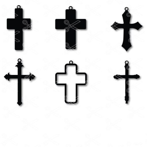 cross earrings svg and dxf cut files