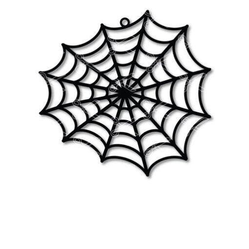 halloween spider web earrings