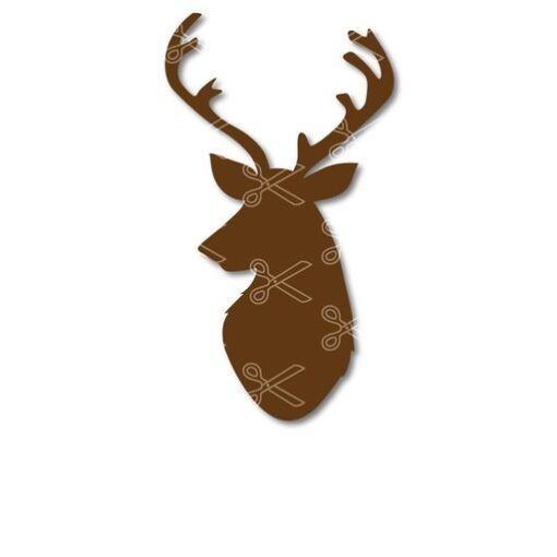 reindeer head svg and dxf cut files