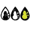 Download Snowman Winter Tear Drop Earrings SVG and DXF Cut files and use it to your DIY project!