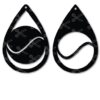 tennis tear drop earrings svg and dxf cut files