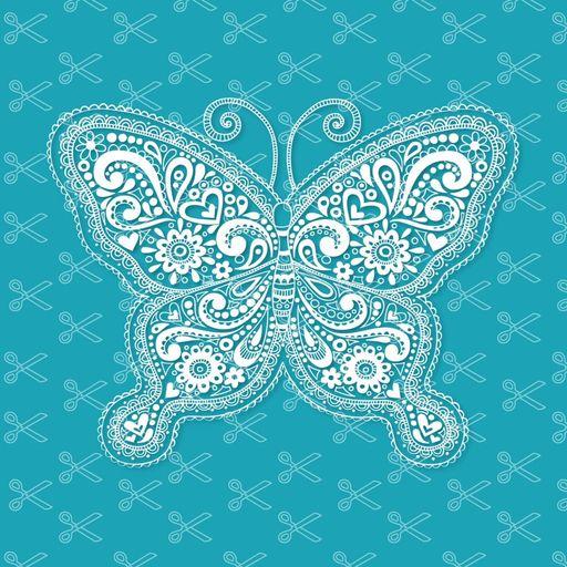 Mandala butterfly svg