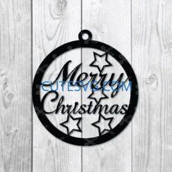 christmas earring svg file