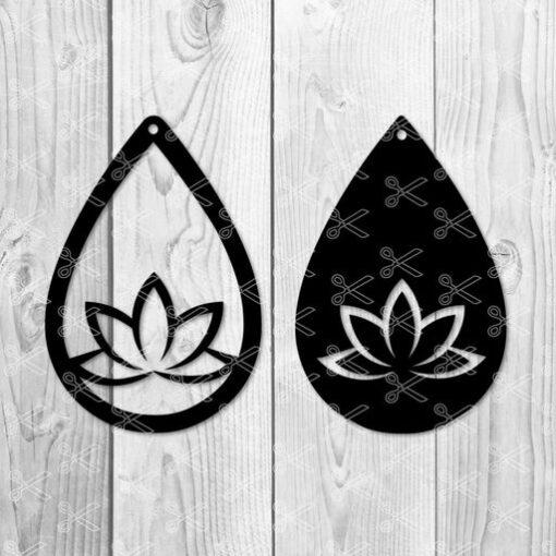 yoga earring svg file