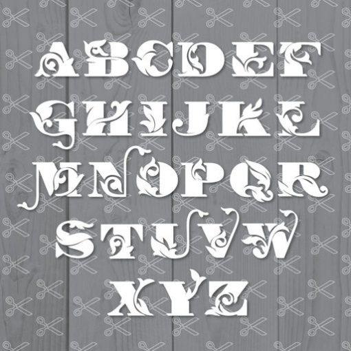 Alphabet Flowers SVG