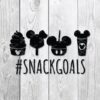 Disney Snack Goals SVG