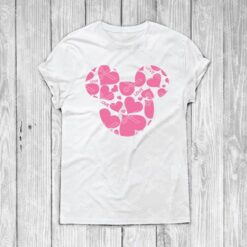 Love Mickey Mouse Valentines Day heart svg