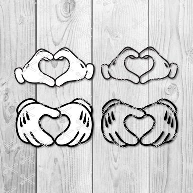 Mickey Mouse Heart SVG