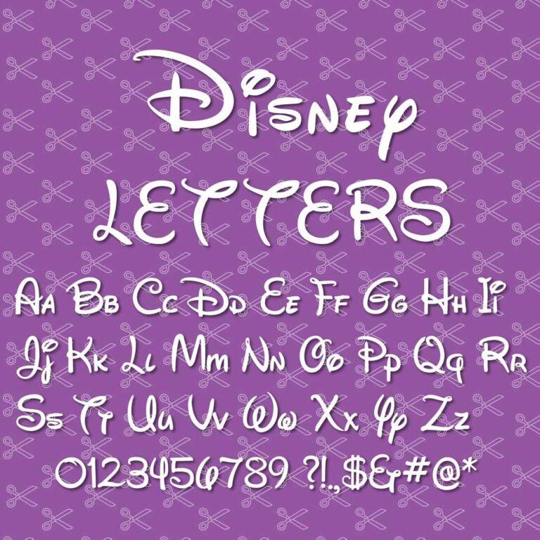 Walt Disney font svg