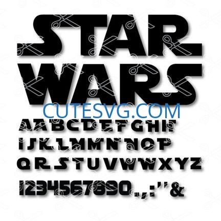 Star Wars Alphabet Svg