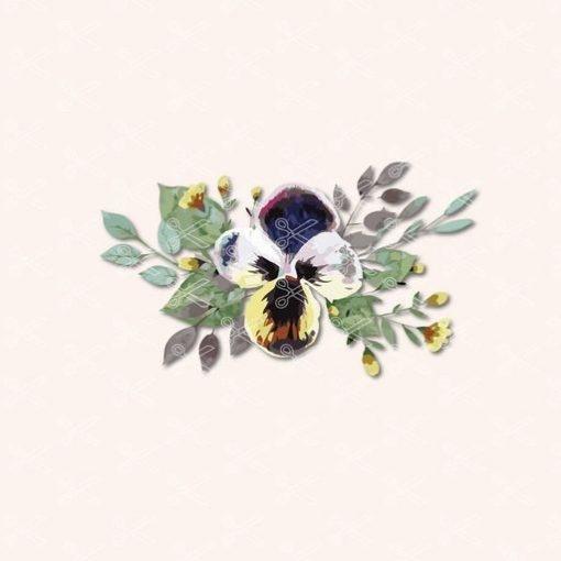 Watercolor floral bouquets SVG