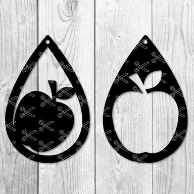 Apple Earring Svg diy craft