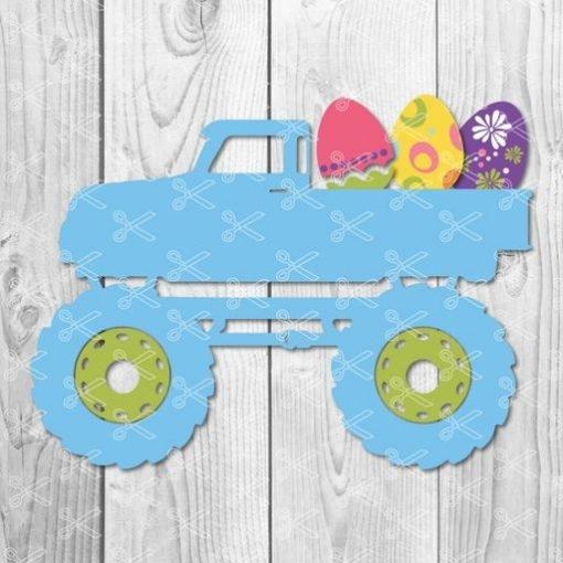 Boy Easter Truck SVG