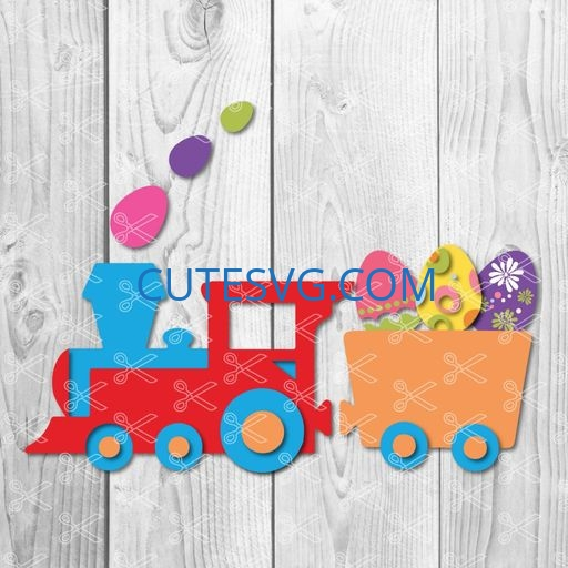 Easter cute Train Svg