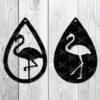 Flamingo Teardrop Earring SVG