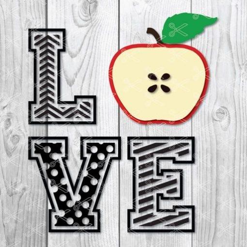 love apple svg