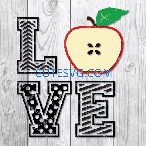 love apple svg